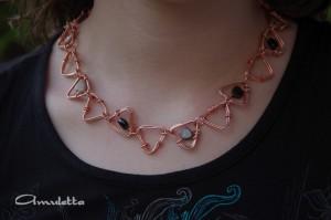 Amuletta - turmalin szívecskés nyaklánc