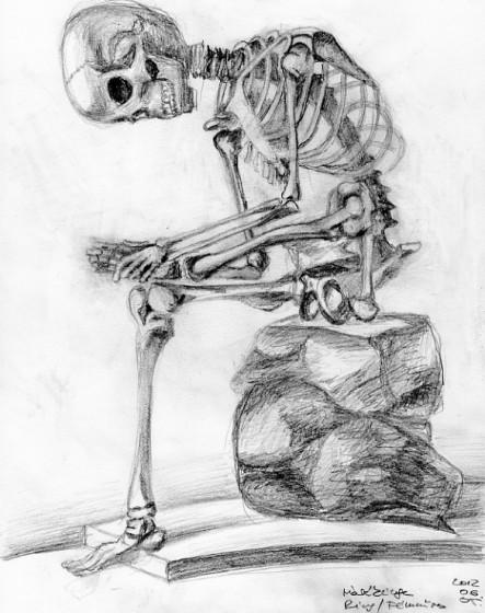 Samu azaz csontváz ékszer
